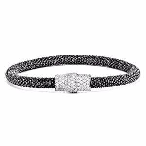 Sterling Silver Mesh Magnetic Clasp Bracelet
